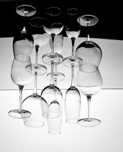 Reflection Of Empty Drink Glas...