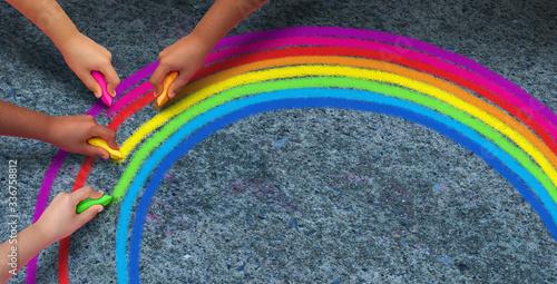 Hope Rainbow Concept Canvas-taulu