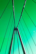 Leinwanddruck Bild - Umea, Norrland Sweden - March 8, 2020: green sky and the new cable bridge
