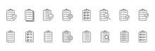 Clipboard Line Icon. Checklist...