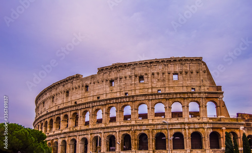Tablou Canvas Artistic ruins of Roman Colosseum or coloseum an ancient gladiator Amphitheatre