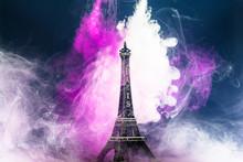 Eiffel Tower Decoration By Smoke