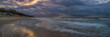 sea sand beach at night blue hour long exposure