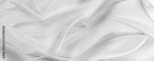 Fotografie, Obraz White silk fabric lines