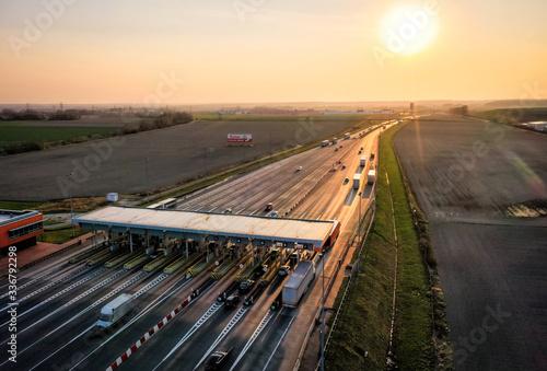 Gliwice Autostrada A4 Bramki Canvas Print