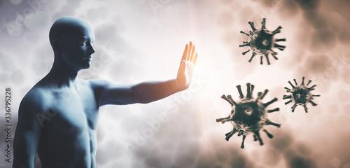 Fényképezés Man stopping coronavirus