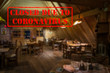 Defocused, blurred view of interior of traditional bar or restaurant, empty and closed due to coronavirus or covid 19 pandemics