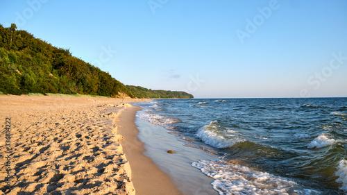 Obraz plaża nad morzem bałtyckim chłapowo - fototapety do salonu