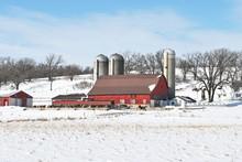 Farm Buildings In Winter