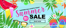 Summer Time Sale Concept With ...