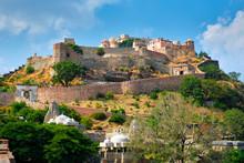 Kumbhalgarh Fort Famous Indian Tourist Landmark. Rajasthan, India