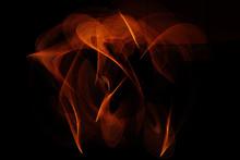 Light Painting Against Black Background