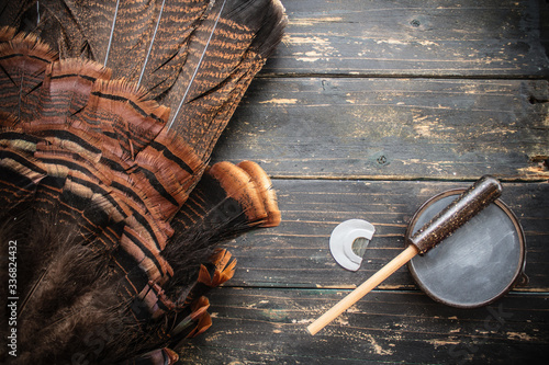 фотография Eastern Wild Turkey Hunting Background
