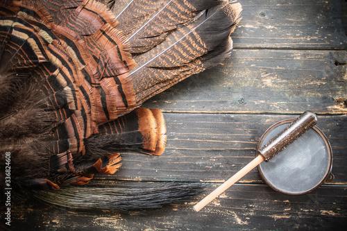 Fotografía Eastern Wild Turkey Hunting Background