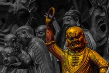 Close-up Of Gold Male Statue I...