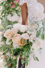 A Close Up Of A Bridal Bouquest