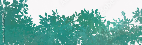 Watercolor leaves background, vector. Fotobehang
