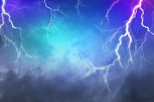 Lightning, Thunder Cloud Dark ...