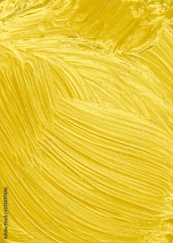 Golden textured oil painting Canvas Print