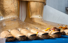 Feet Of The Standing Buddha At...