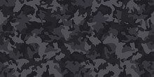 Black Camouflage Pattern , Sea...