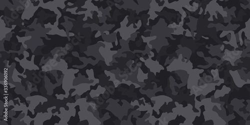 Fotomural Black camouflage pattern , seamless vector background