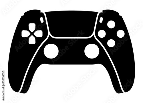 Next generation game controller or gamepad flat vector icon for gaming apps and Slika na platnu