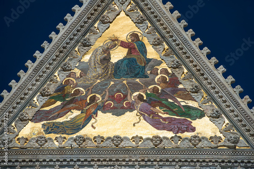 Photographie large central mosaic, The Coronation of the Virgin Mary by Luigi Mussini on th