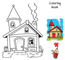 Little House. Coloring Book. C...