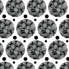 Black-white Background From Striped Beads. Background Of Zebra Stripes.
