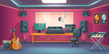 Music Studio Control Room And ...