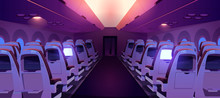 Airplane Cabin With Seats And ...
