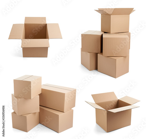 box package delivery cardboard carton Fototapete