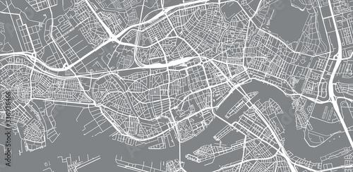 Fotografía Urban vector city map of Rotterdam, The Netherlands