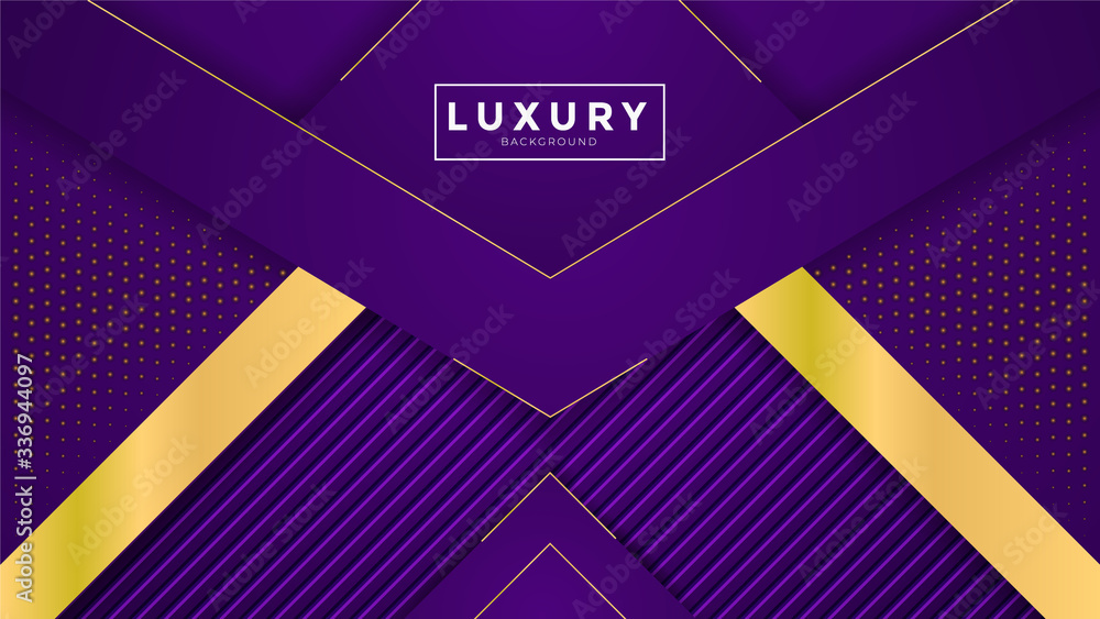 Abstract luxury background with golden royal shiny borders. Vector geometric illustration, elegant seamless pattern. Can be used for premium royal party. Luxury poster BG template and decoration.