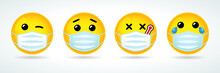 Emoji With Guard Mouth Mask. Y...