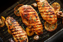 Grilled Chicken Breasts With T...