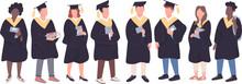 College Graduates Flat Color V...
