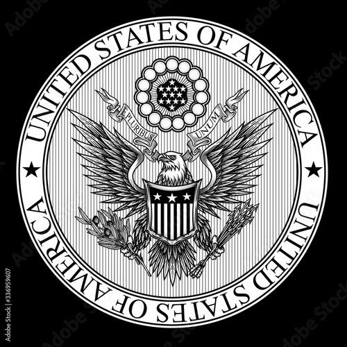 Fotografie, Obraz United States of America coat of Arms