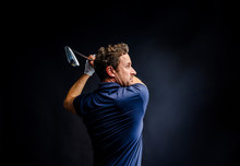 Close-up Of A Golf Player Inte...