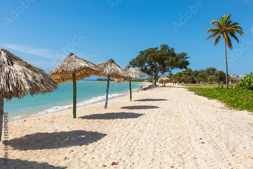 View of a beach Playa Ancon near Trinidad, Cuba. Wallpaper Mural
