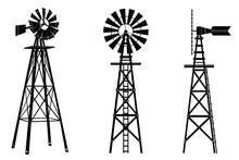 Windmill Silhouette Illustrati...