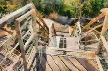 Outdoor Stairs Illustrations Creates An Impressionist Style Of Painting.