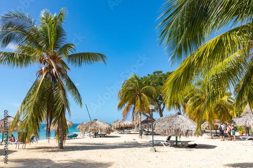View of a beach Playa Ancon near Trinidad, Cuba.