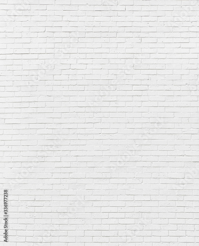 white brick wall may used as background Fototapeta
