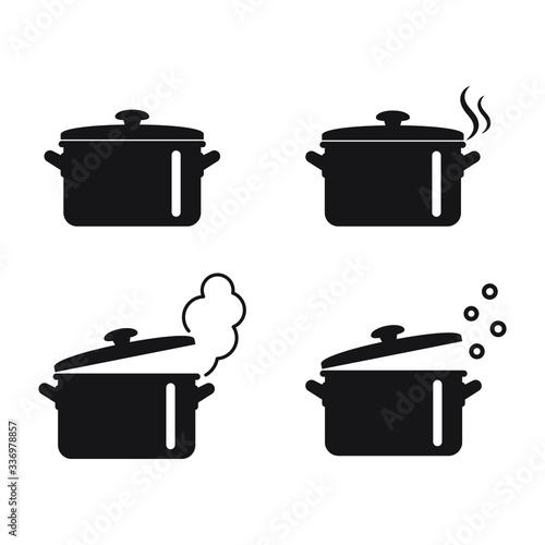 Vászonkép Cooking pan icon, Pot icon vector isolated