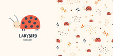 Ladybirds. Seamless Pattern And Surface Design For Kids