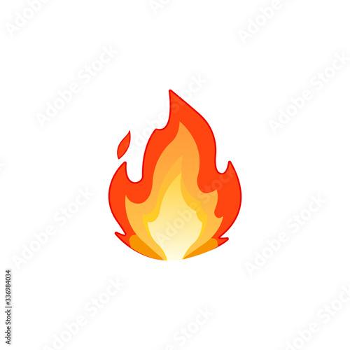 Lit emoji icon. Fire symbol modern, simple, vector, icon for website design, mobile app, ui. Vector Illustration