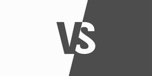 VS Versus Letters Vector Logo Icon Isolated On White Background