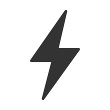 Flash Icon. Lightning Symbol Modern, Simple, Vector, Icon For Website Design, Mobile App, Ui. Vector Illustration